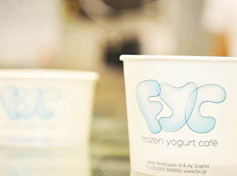 Cups with the fyc logo